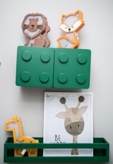 Lego aéreo 2 portas verde