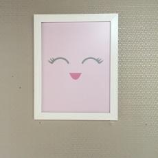 quadro rosa de olhinho