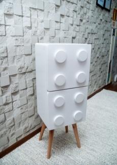 Lego vertical branco