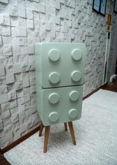 Lego vertical verde menta