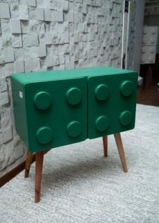 Lego horizontal verde