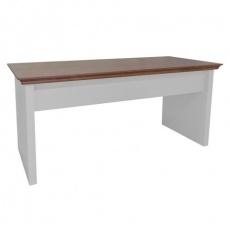 Escrivaninha ha - branca com tampo madeira