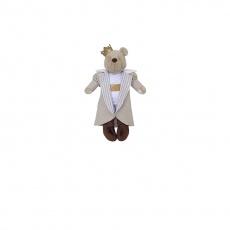 Urso Rei Linho Bege