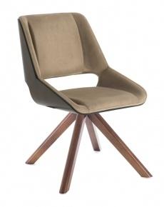 Cadeira moderna com pés em madeira