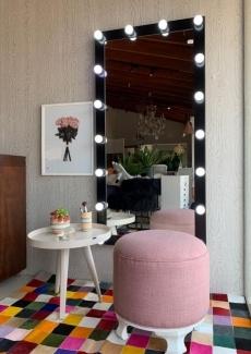 Espelho camarim 18 lâmpadas - Preto